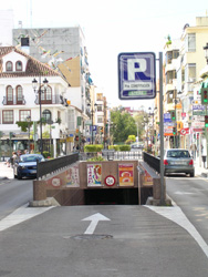 Parking from Malaga direction