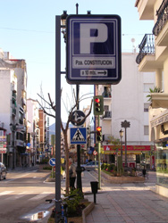 Parking from Marbella direction